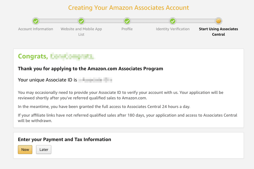 How to Become an Amazon Affiliate Signup Complete