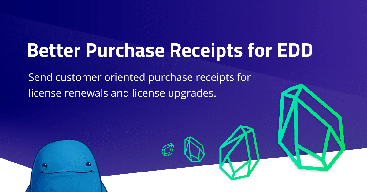 Better Purchase Receipts for Easy Digital Downloads add-on released!