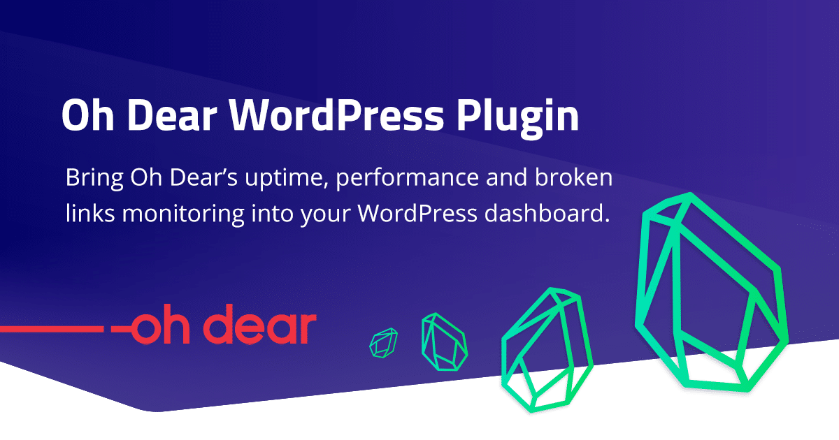 Oh Dear WordPress Plugin released!